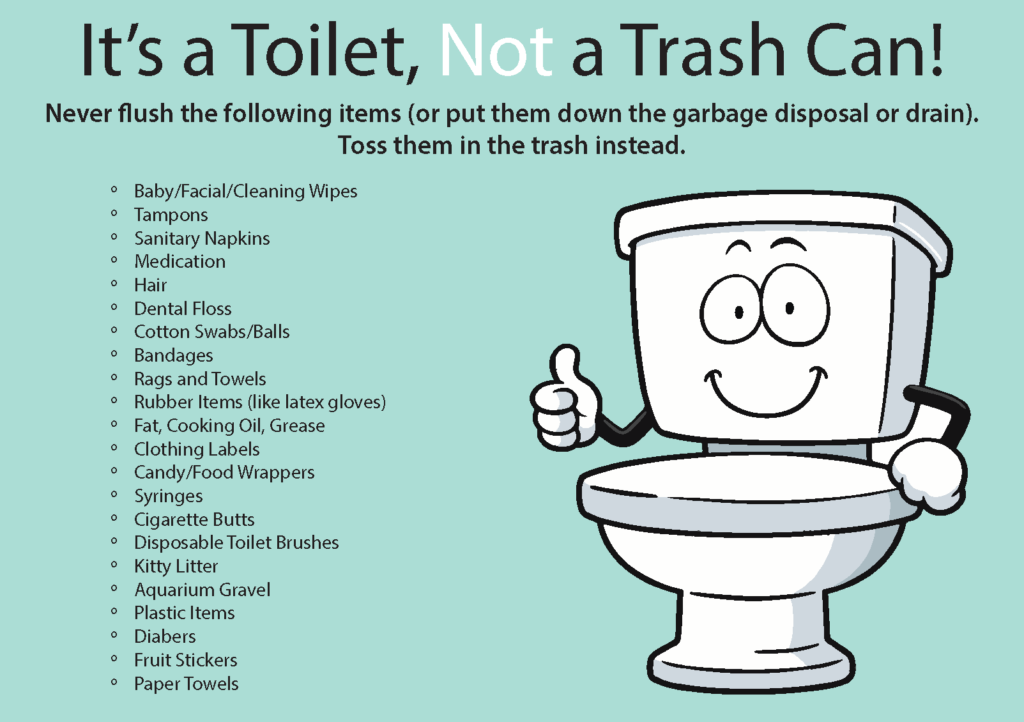 flush down the toilet