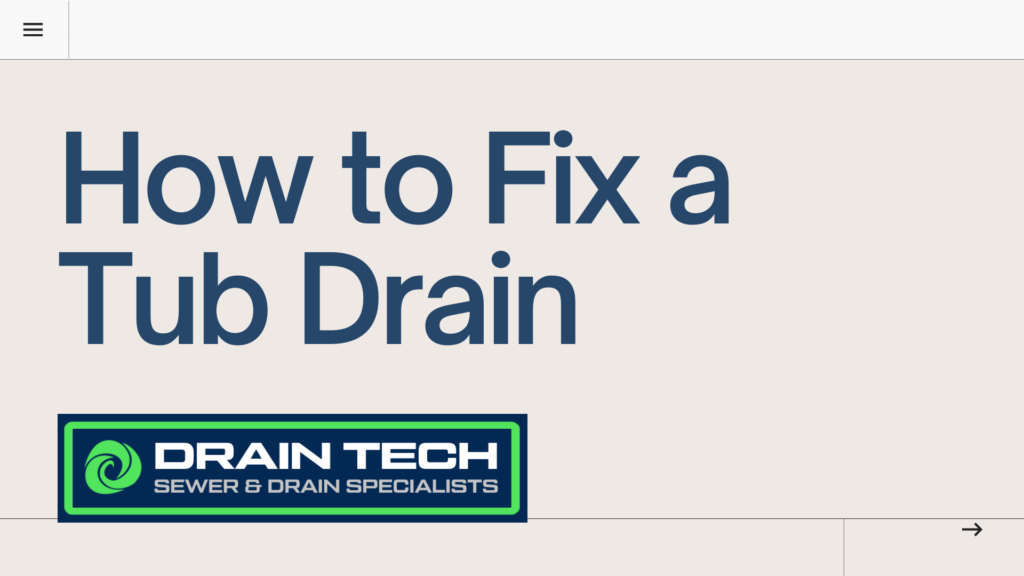 how to fix a tub drain