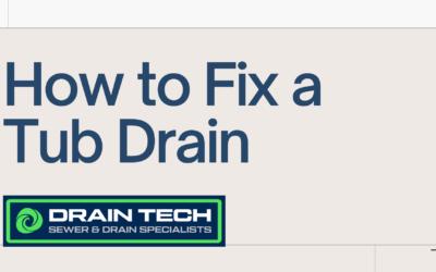 How to fix a Tub drain